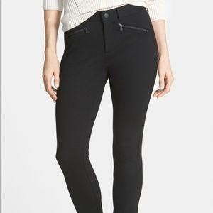 NWOT NYDJ Zip Pocket Ponte Leggings Sz 8 Black